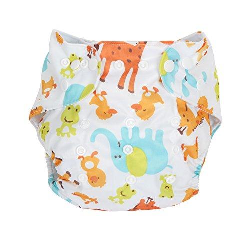 Letech® Baby Stoffwindel Windelhose Babywindel Größe Verstellbar (Tier)