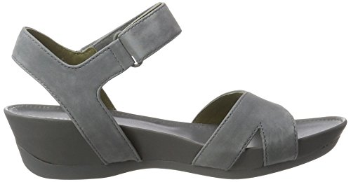 Camper - Supersoft Negro/micro Negro, Sandali Donna Grigio (Medium Grey 013)