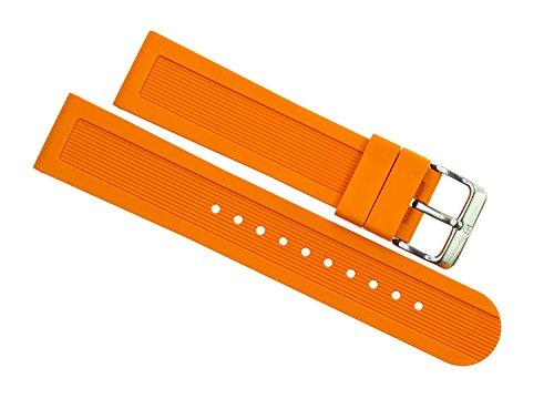 Victorinox Swiss Army Dive Master 500 Orange Genuine Rubber Strap Diver Watch Band 22mm (Swiss Dive Army Victorinox Master)