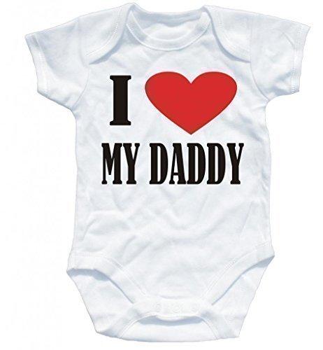 Naughtees Clothing - Baby Body 'I Love My Daddy' Kurzärmelig - Weiß, 0-56
