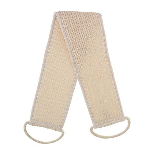 Gazechimp Beige Sangle Lave-dos Exfoliant Brosse SPA Eponge en Lin & Coton + Tissu pour Bain & Douche