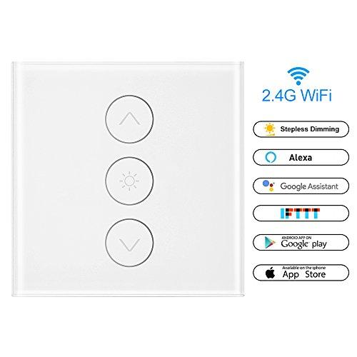 Sunsbell Wand-Touch-Smart-Lichtschalter, Dimmer WiFi-Lichtschalter mit Alexa Google Assistant IFTTT -