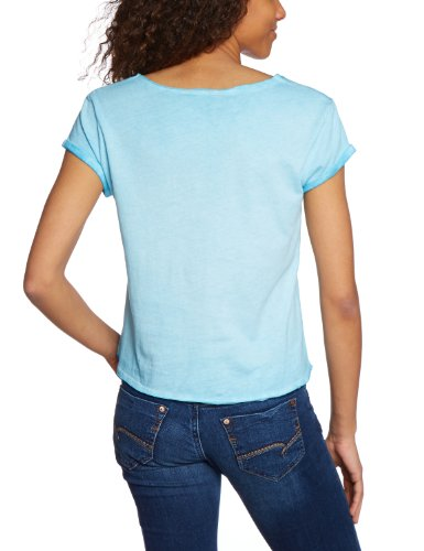 Mavi - T-shirt - Femme Bleu (13886; Rolled Up Slv Top; Turquoise)