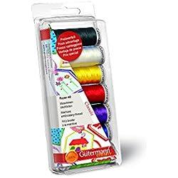 Gutermann Rayon 40 Classic- Juego de bobinas de hilo para máquina de coser (100% viscosa), colores clásicos