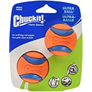 Chuckit Ultra Ball, Durable High Bounce Rubber, Launcher Compatible, 2 Pack, Small