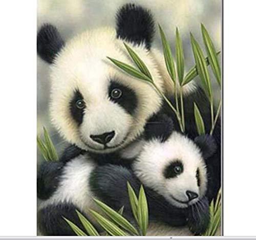 XIGZI Panda Liebe Hand DIY Diamant malerei kit 3D dekorative malerei kreuzstich Pflanzen Stickerei wandaufkleber Geschenk 30x40 cm Rahmenlos