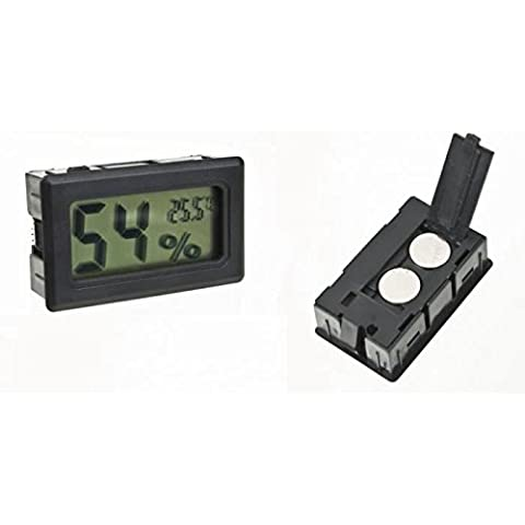 ourbest 1pcs Mini higrómetro inalámbrico Humedad Temperatura Termómetro Medidor