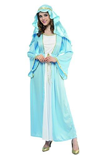 Blumen Paolo-Jungfrau Maria Kostüm Damen Erwachsene Womens, hellblau, Gr. 40-42, 62030 (Lady Geburt Kostüm)