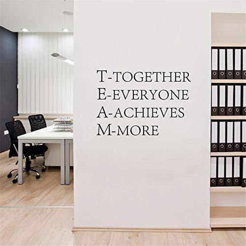 Team-Motivzitat-Büro-Wandaufkleber, zusammen erzielt jeder inspirierenderen Vinylaufkleber Büro-Wandkunstdekor 75 * 60cm
