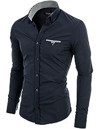 MODERNO - Slim Fit Langarm Herrenhemd (VGD063LS)