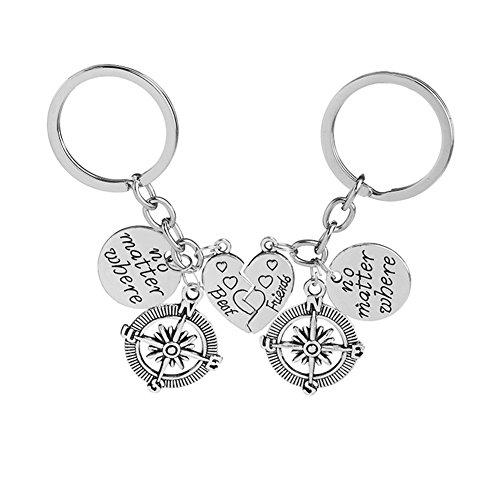 Shangwelluk giorno coppia regalo romantico casa di portachiavi personalizzati souvenir cordino portachiavi di san valentino amore portachiavi