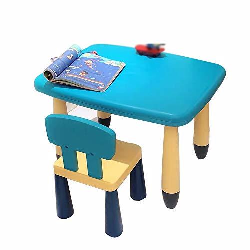 Desconocido DD-Desk - Juego de Mesa y Silla para niños, Color Azul,...