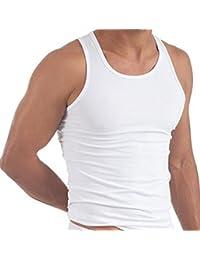 Confezione da 6 Mens 100% Cotone Estivo Peso Canottiera Canottiere Intimo / Bianco / Disponibile in taglie S / Medium / Grande / X grande / XXL