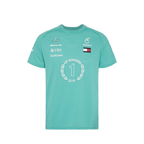 MERCEDES AMG PETRONAS Herren T-Shirt Race Winner Gewinner 2018 Formel 1 Team (L)