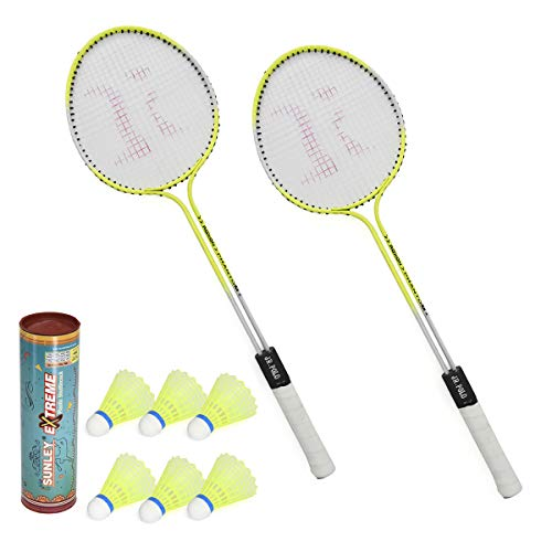 8. SUNLEY Phantom Set of 2 Piece Badminton Racket