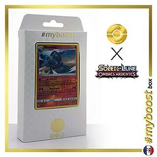 Rhinastoc (Rihornior) 67/147 Wendbare Holo #myboost X Soleil & Lune 3 Ombres Ardentes - Box mit 10 Franzosische Pokémon-Karten
