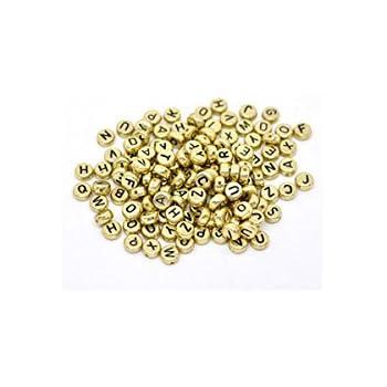 ILOVEDIY 50X Buchstabe Perlen Kunststoffperlen Weiß Basteln Neu (#14)