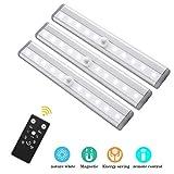 LED Unterbauleuchten, 3 Pack Fernbedienung Küche unter Kabinett Beleuchtung Schwenkbar Lichtleiste Küchenleiste Dimmbare Timer LED Küchenleuchte Schrankleuchte