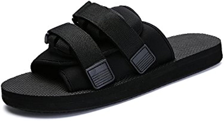 YQQ Strandschuhe Leder Hausschuhe Lässige Schuhe Herren Sandalen Männliche Schuhe Ferienschuhe Sommer Gemütlich