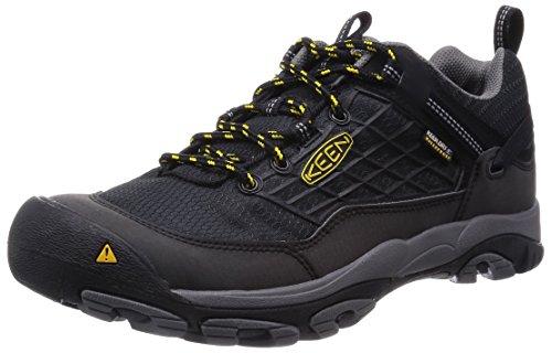 KeenSaltzman Wp - Scarpe da trekking e da passeggiata Uomo , Nero (Schwarz (Black/Keen Yellow)), 43