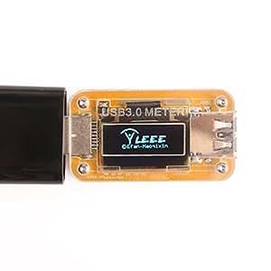 DEOK USB 3.0Alimentation M 10V 2.0A ampèremètre voltmètre Capacité d'alimentation écran OLED hors ligne de rangement