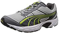 Puma Mens Vectone DP Black, Dark Shadow and Lime Punch Running Shoes - 9 UK/India (43 EU)