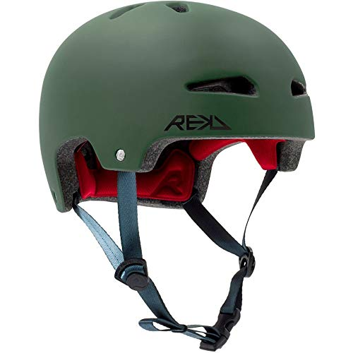 REKD Ultralite In-Mold Helmet Skateboard-Helm, Unisex, Erwachsene, Grün (Grün), 53-56 cm