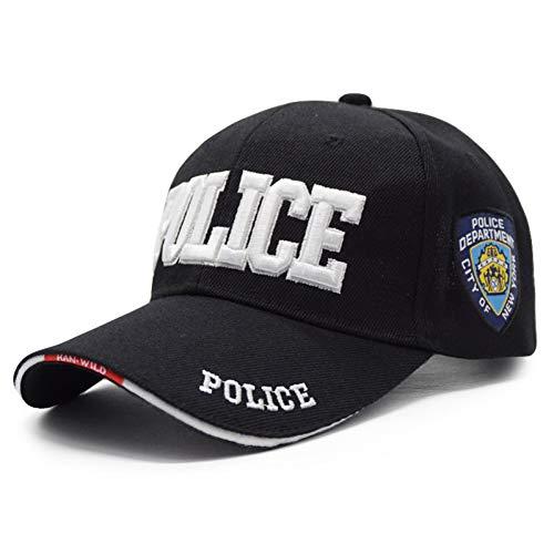 SKAMAO Baseball Kappe Männer Eagle Tactical Baseball Cap Hut Baumwolle Knochen Einstellbare Outdoor Navy Cap Polizei schwarz