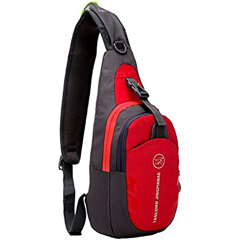 G7Explorer Lightweigh Breathable Multi Purpose Waterproof Chest Bag Sling Shoulder Backpack Red