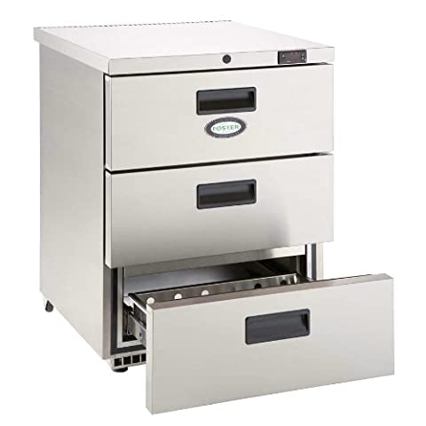 Foster HR150D 3 Drawer Under Counter Fridge, 150 L