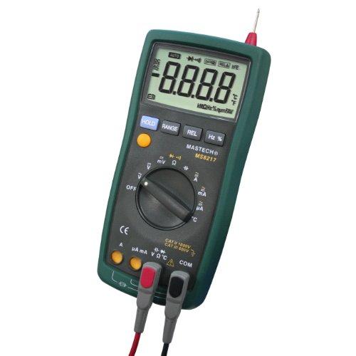 MASTECH MS8217 Digital Multímetro Medidor de Resistencia de Capacitancia Tester Con Medición de Temperatura Voltaje AC/DC Corriente