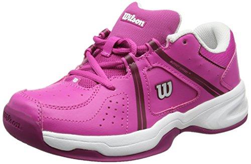 Wilson Envy Jr Rose Viole/Wh/Boysenberr, Chaussures de Tennis Mixte Enfant Rose (Rose Violet / White / Boysen Berry)