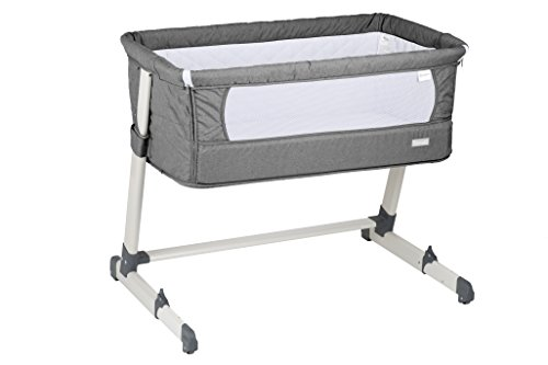 babygo 4601 Lettino-Culla Together Lettino incl Materasso e Cuscino, Grigio