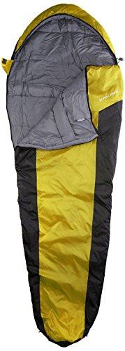 10T Outdoor Equipment, Sacco a pelo Yukon 225, Giallo (Gelb), 200 x 85 x 55 cm
