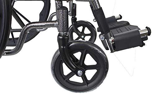 41 l46%2ByQkL - Mobiclinic, Silla de ruedas premium, Plegable, Ruedas traseras grandes extraíbles, Reposapiés y reposabrazos, Asiento de 46 centímetros, S220 Sevilla