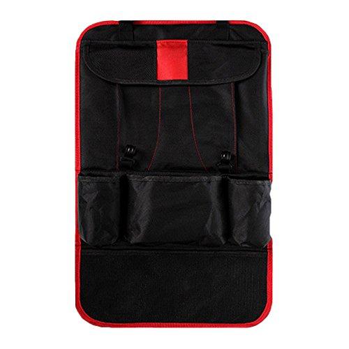 Organizador para el Asiento Trasero del Coche con Bolsillos de Almacenamiento Multiuso Extra- Protector del Asiento del Coche con Espacio para Tablet o iPad con Pantalla Táctil