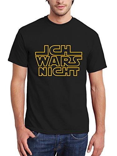 clothinx Herren T-Shirt Ich Wars Nicht Schwarz/Gelb Größe XL
