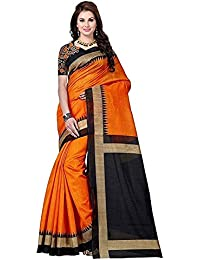 Buyonn Women's Art Silk Bhagalpuri Saree With Blouse Piece (Ofs108-Z01,Multicolor,Free Size)