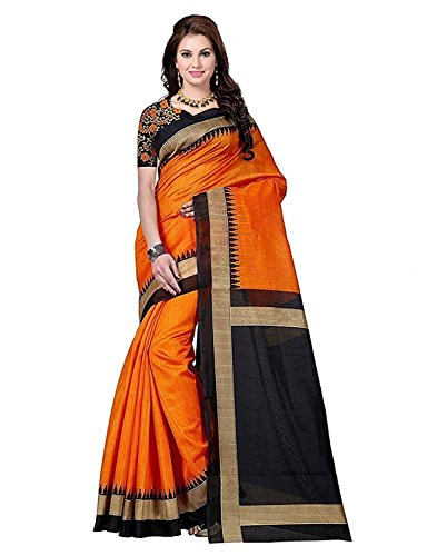 Sarees (Woman`s Clothing Saree For Woman Latest Desigen Wear Sarees Collection In Multi Colour Art Silk Material Latest Sarees With Designer Blouuse Free Size Beautiful Bollywood Sarees For Woman Party Wear Offer Designer Sarees With Blouse Piece)  available at amazon for Rs.249