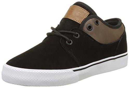 Globe Mahalo, Scarpe da Skateboard Bambino Nero (Black Suede/brown)