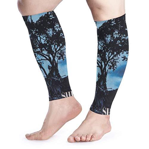 Bikofhd Wadenkompressions-Ärmel Leg Performance Support Shinedown Leave A Whisper Leg Support Socks for Women Men 1 Pair -