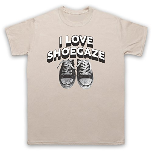 I Love Shoegaze Indie Alternative Rock Fan Herren T-Shirt Beige