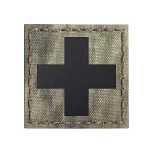 Red Cross IR IFAK MED Medical EMS A-TACS AU Infrared EMT 2x2 Tactical Morale Hook&Loop Patch
