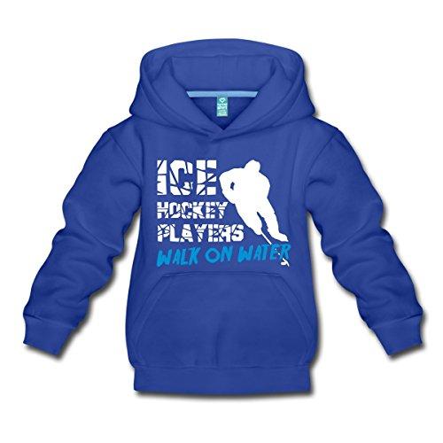 Spreadshirt Eishockey Ice Hockey Players Walk On Water Kinder Premium Hoodie, 122/128 (7-8 Jahre), Royalblau