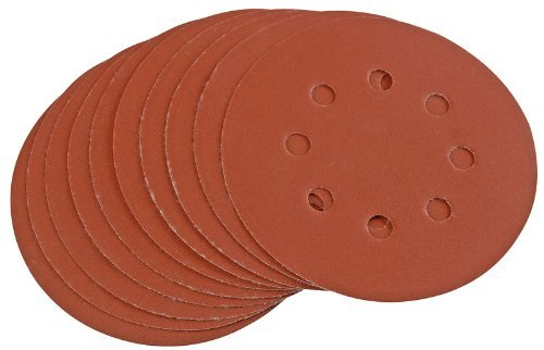 Draper 44344 125 mm 400-Grit Hook-and-Loop Sanding Discs by Draper
