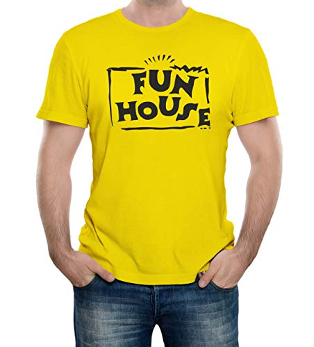 Bullshirt's Men's Fun House T-Shirt (X Large, Yellow)