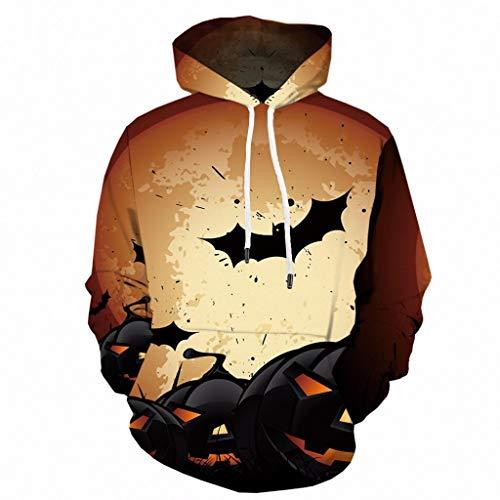 Halloween Oversize Gedruckt Hoodies Tops Mantel Für Herren Bat Vampire Drucke Hoodie Sweatshirt Jacke Festliche Karneval Party Kapuzenjacke Winter Warm Hoody Outwear Mit Tasche Outwear Streetwear