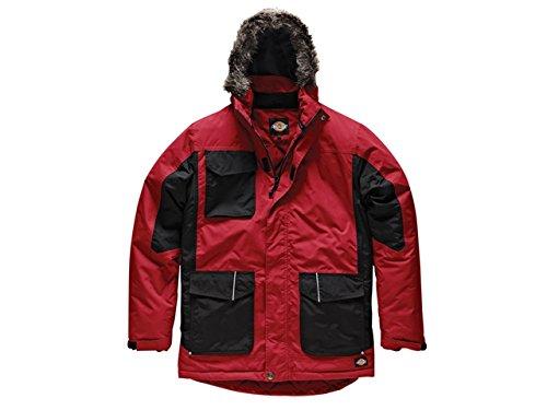 Dickies, JW7008, Parka bicolore rosso / nero RDB XXL