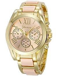 Sannysis® Oro Mujeres número romano plateado reloj