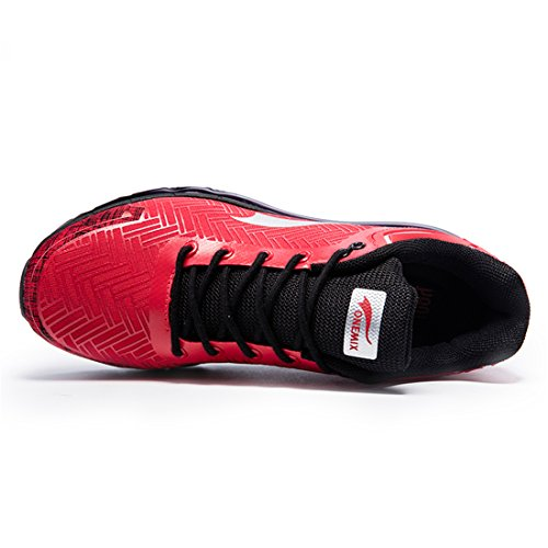 ONEMIX Baskets Chaussures de Sport Course Gym Fitness Sneakers Running Homme Rouge